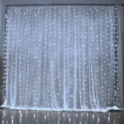 300 LED 3m Fairy Curtain String Lights Wedding Party Room Decor Perfect Holiday $13.79