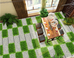 3D Green Grass Painting 75 Floor WallPaper Murals Wall Print Decal 5D AU Lemon