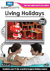 LIVING HOLIDAYS: VIRTUAL FIREPLACE & MORE (2008) New and Sealed