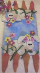 Caught with Carrots wool applique penny rug tablerunner pattern