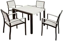Trex Outdoor Furniture Surf City Textured Bronze 5-Piece Patio Dining Set With