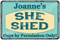 Joanne's SHE SHED Vintage Look Sign 8x12 Chic Woman Metal Wall Décor 8127915