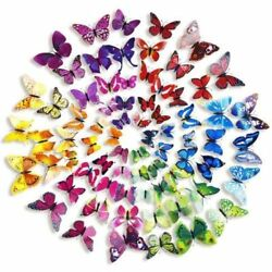 12Pcs 3D Butterfly Wall Stickers Art Decals Home All Room Decorations Decor Kids $1.99
