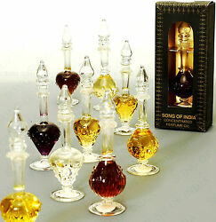 Song of India Natural Fragrant Oil in Fancy Glass Bottle 4 Scents. FREE SHIPPING