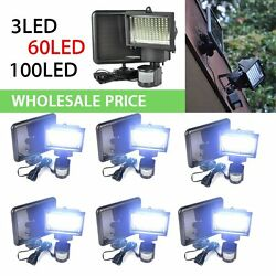 360100 SMD LED Solar Power Motion Sensor Security Outdoor Waterproof Light LOT