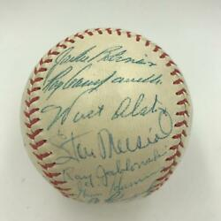 The Finest 1954 All Star Game Team Signed Baseball With Jackie Robinson JSA COA