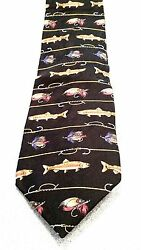 FIELD & STREAM SILK TIE  FISHING