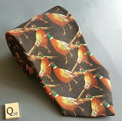 FIELD & STREAM PHEASANTS 100% SILK TIE 57