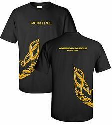 Pontiac Firebird Trans Am T-Shirt - Black w Under Wrap Emblem  Logo (Licensed)
