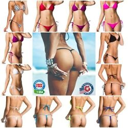 Coqueta Mini Micro Bikini Set Bottom G-string & Top Swimwear Thong Sexy New Hot