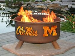 Rust Ole Miss Fire Pit Pits These Collegiate Grilling Before Big Also Great Use