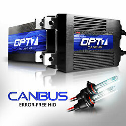 OPT7 AC 55W CanBUS H11 HID High Beam Kit Relay Harness Bundle All Xenon Light