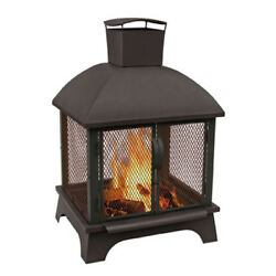NEW Landmann Unique and Contemporary Style Redford Outdoor Fireplace in Black