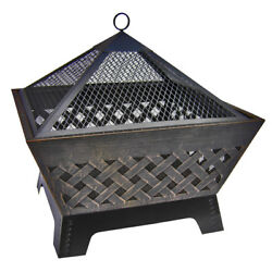 NEW Landmann 26 Inches Barrone Fire Pit with Cover in Antique Bronze Color