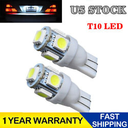 2pcs T10 5 SMD 5050 Super White LED Light Bulbs 192 168 194 W5W 2825 158 12V USA