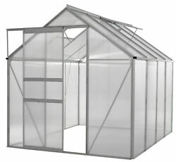 UPBO-OGAL866-Ogrow WALK-IN 6' X 8' Lawn and Garden Greenhouse with Heavy Duty A
