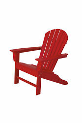 POLYWOOD SBA15SR South Beach Adirondack in Sunset Red