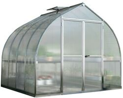 Palram Bella 8 Ft. X 8 Ft. Silver Polycarbonate Greenhouse