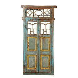 JALI ANTIQUE  DOUBLE ENTRANCE FRENCH DOORS GARDEN GATES~ARCHITECTURAL SALVAGE
