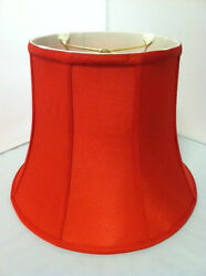 14quot;Red Silk Lampshade Modify Bell Shape Fabric Lamp Shade Spider Fitter NEW $84.95