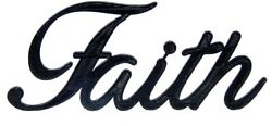 Faith Word Art Sign Home Kitchen Decor Wall Hanging Cursive Script Typography $9.99