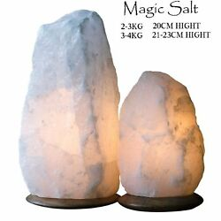 HIMALAYAN CRYSTAL SALT LAMP NIGHT DESK LAMP NATURAL IONIZER SALT LAMP SALT ROCK GBP 16.99