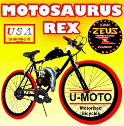 2 STROKE 66CC 80CC MOTORIZED BIKE KIT WITH 26quot; BICYCLE POWER PIPE $729.99