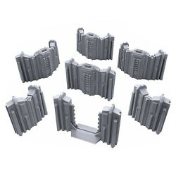 Tall Connecting Barricade Wall Set Terrain Scenery 28mm Miniatures 3D Printed $19.99