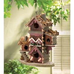 NEW    Gingerbread Style Birdhouse Bird House Outdoor Christmas Lawn Decorations