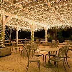 100-400LED Warm White String Fairy Lights Christmas Party Wedding Garden Decor $6.50
