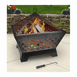 NEW Garden Yard Fireplace Small Contemporary Steel Firepit Heater Outdoor Heat