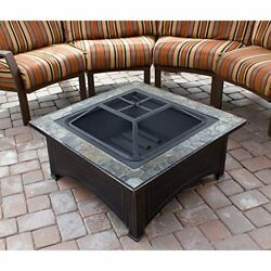 Outdoor Patio Fireplace Garden Yard Stone Table Firepit Heater Antique Modern