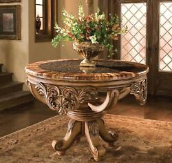 Luxury Foyer Table w Bamboo Ring Top Hand Carved Wood Sp Order Benetti's Dynasty