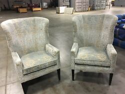 Pair of Baker Classic Wing Chair