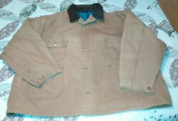 CARHARTT BIG MANS 4XL SIZE 60 USED VERY NICE. WOOL LINING WORK WEAR BUTTON UP
