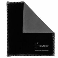 Hammer Bowling Shammy BLACK CARBON Leather Oil Removing Pad $14.95