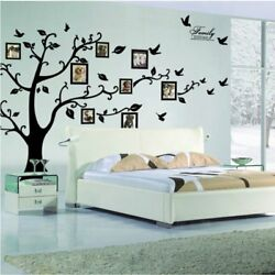 DIY Photo Gallery Frame Family Tree WallPeel & stickbedroom stencil decoration