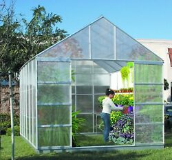 NO TAX 10 ft X 12 ft Greenhouse 4 Vents Walk-In Large Nursery Sliding Doors