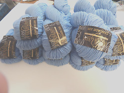 Cascade 220  Sky Blue Wool Med Worsted Yarn  Felting l pack of 9