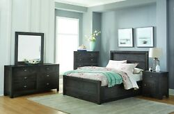 Amish Luxury Bedroom Set Rustic Modern Solid Wood Gray Queen King Sonoma 5-Pc