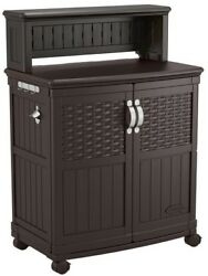 Patio Storage and Prep Station Weather Resistant Outdoor Deck Box Furniture