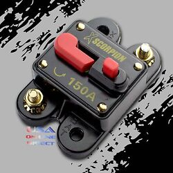 150 AMP CAR STEREO INLINE POWER CIRCUIT BREAKER REPLACES FUSE HOLDER 150A 12Volt $13.50