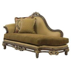 Luxury Silk Chenille Solid Wood Chaise Lounge Special Order Benetti's Sicily