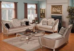Luxury Pearl Silk Chenille Solid Wood Sofa Set 3Pcs Sp Order Benetti's Sofia