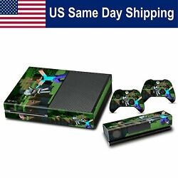 Decals Sticker Vinyl Skin for Xbox One Console & 2 Controller Cover Set