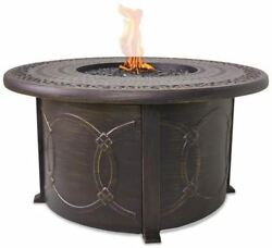 Blue Rhino LP Gas Outdoor Fire Table with Slate Cast Aluminum Mantel