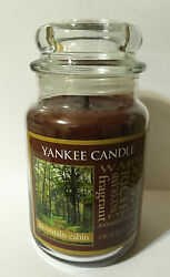 YANKEE CANDLE MOUNTAIN CABIN BROWN MANLY EARTHY WOODLAND WARM NATURE WAX CANDLE