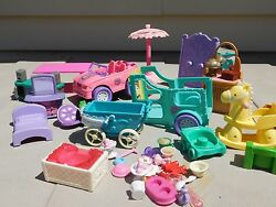 Lot of Random Doll House Furniture Lil Kidz Cabbage Patch Barbie and more