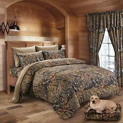 22 PC SET WOODS CAMO COMFORTER AND SHEET SET! QUEEN BED IN BAG SET! CAMOUFLAGE!