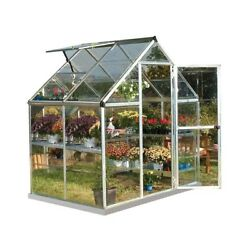Compact Polycarbonate Greenhouse in Silver 6 ft. x 4 ft. Unbreakable Panels NEW